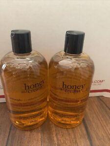 2 Bottles Philosophy Honey And Cream Shampoo and Shower Gel 16 oz Bubble Bath