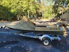 Barnegat Bay sneakbox duck hunting boat, motor, trailer and accessories