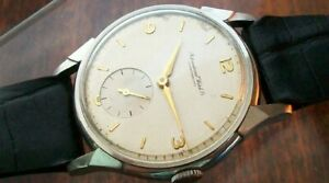 VINTAGE IWC  INTERNATIONAL WATCH COMPANY - ALL STAINLESS STEEL CASE -- 1950