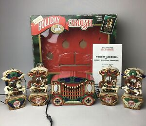 Vintage 1993 Mr. Christmas Musical Holiday Carousel | Lights & Sounds | Working
