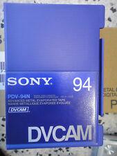 SONY DVCAM PDV 94N LOTE 10 VIDEO CASSETE TAPE NUEVO SIN USAR VIRGEN