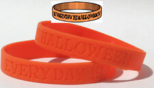 Everyday is Halloween Wristband Jack O Lantern Orange All Hallows' Eve Fun TW022