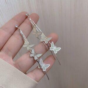 Fashion 925 Silver Women Bee Zircon Earrings Stud Drop Dangle Party Jewelry Gift