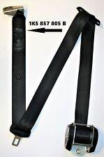 VW Jetta Mk5 Seat Belt Left Side Rear Black 1K5 857 805 B 1K5857805B