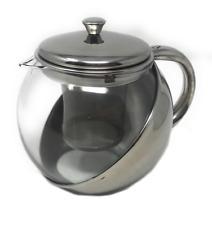 Teiera con filtro infusore per tisane the 900ml tisaniera tè in vetro e acciaio