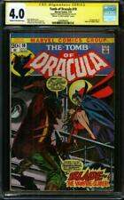 Tomb of Dracula #10 CGC 4.0 SS 1st app of Blade Mennen & Mark Jewelers Inserts
