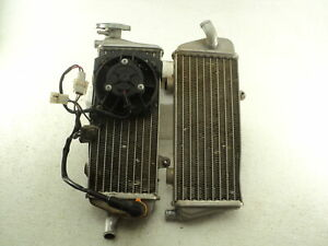 KTM EXC-R 450 #8581 Radiators with Spal Cooling Fan Assembly