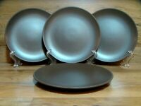 "SET OF 4 - IKEA SWEDEN DINERA - MATTE BROWN - 7 7/8"" SALAD PLATES - EUC 12011"