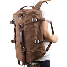 Men Canvas Backpack Rucksack Laptop Shoulder Outdoor Duffle Bag L3