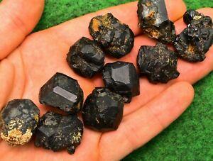 1 Melanite Black Garnet, Andradite Crystal Mineral Gemstone Natural UKBUY 15-20g
