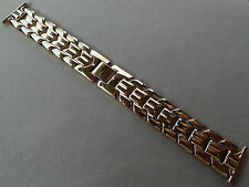 ROWI Germany Mens 22mm Gold Tone Bracelet Open Ends Crimp Watch Band $101.95