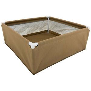 Grassroots Raised Garden Bed (4'x4') w/ Watering Blumat Kit Outdoor & Indoor