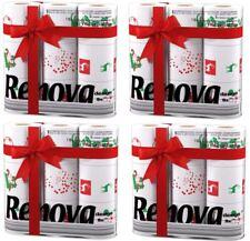 Renova White Print 3 Ply Christmas Xmas Toilet Tissue Paper Rolls (36 Rolls)