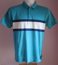 VTG Mens LEVI'S Pale Blue Striped Collared Polo Short Sleeve Shirt Size Small