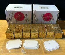 New listing Nib Kate Aspen Ka25183Gd Gold Glitter Cube Place Card Holders Set Of 14