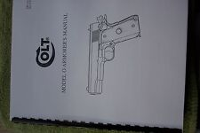 1911 COLT MODEL O ARMORER'S PISTOL MANUAL Very detailed 51 pages of information