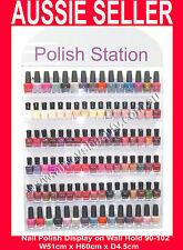 Nail Polish Stand Hold 90 -102 Wall Mount Acrylic Rack Fit OPI Polish OZ
