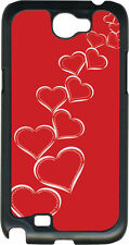 Valentine's Graduating White Hearts Samsung Galaxy Note II 2 Hard Case Cover