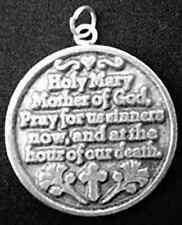 silver Pendant Charm Jewelry Look New Hail Mary Jesus