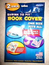 Shrink to Fit Book Covers, One Size Fits All, Heat Shrink 2 covers