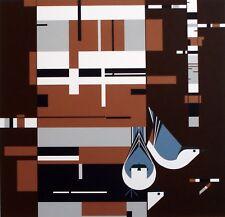 Charlie/Charley Harper - BIRCH, BARK AND BIRDS - Cert of Auth - fun bird art