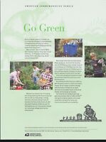 US #868 (44c) Forever Go Green #4524 USPS Commemorative Stamp Panel