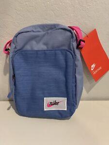 Nike Heritage Small Bag Core Shoulder Unisex Swoosh Indigo Pink Fanny Crossbody