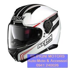 Nolan N87 Rapid Casco Integrale Moto policarbonato N-com - metallo Bianco L