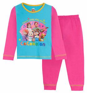 Girls CoComelon Pyjamas Kids Full Length Pjs Set Nightwear YouTube J.J. + Family