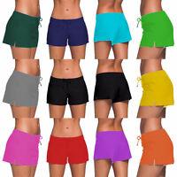 Popular Women Full Coverage Surf Swim Shorts Drawstring Swimwear Stretchy S-3XL