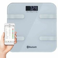 Körperfettwaage Bluetooth Diagnosewaage BMI Personenwaage IOS Android App Weiß