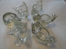 Avon (lot of 6) Votive candle holders- Squirrels, Dove birds, Cat.
