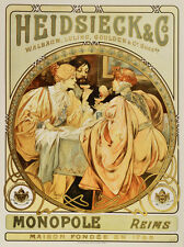 "18x24""Decor poster.Interior design Art Nouveau.Mucha French Nymph.6268"