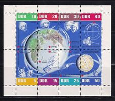 DDR Souvenir Sheet 634 Russian Space Flights Sputnik1 Vostoks 3&4~