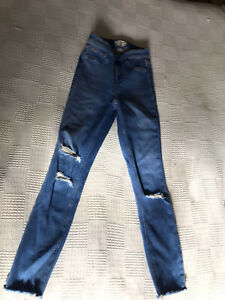 Girls New Look High Rise Ripped Jean Age 15