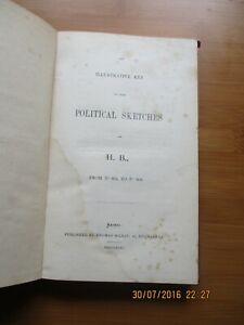 1844 JOHN DOYLE LITHOGRAPHER  ILLUSTRATIVE KEY TO H B  POLITICAL SKETCHES
