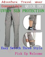 Ladies Convertible Zip Off Shorts Walking Hiking Camping Cargo Trousers Pant
