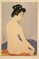 Woman after bath (the model Tomi after bath) Hashiguchi Goyo 1920 reproduction