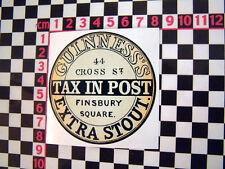 Tax in Post Glass Sticker - Morris Austin Rootes disc Hillman BMC Mini Isetta GT