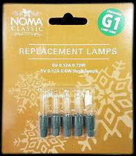 Noma G1 6v 0.12a 0.72W 4 lámparas claro y 1 Lámpara de fusible