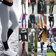 Womens Sports Gym Yoga Fitness Leggings Pants Running Athletic Exercise Trousers
