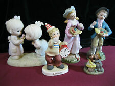 (5) Asst.Collectible Figurines,Precious Moments & Other Ceramic,Colonial B&G Dl3