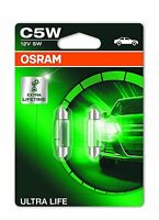 OSRAM 6418ULT-02B C5W 12V 5W SV8,5-8 ULTRA LIFE Soffitte Lampen Doppelblister