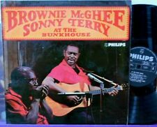 SONNY TERRY & BROWNIE McGHEE At The Bunkhouse LP UK PHILIPS 1965 NM!! RARE