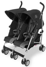Maclaren Twin Triumph Lightweight Baby Double Stroller Black/Charcoal NEW