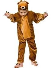 Child Kidz Brown Teddy Bear Fancy Dress Costume Book Week Jungle Animal Kids BN