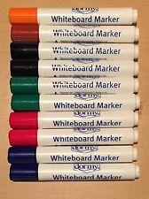 Dormy 10 Pack Pizarra Marcadores Surtidos Rojo Azul Negro Marrón Y Verde Naranja