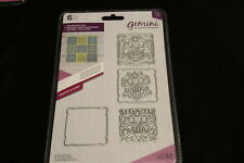 New listing Nouveau Patchwork 6 pieces 1.8x1.8 inches Gemini Metal dies Nip lovely