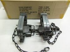 2 Duke # 4 Four Coil Spring Traps  Beaver Bobcat Coyote Lynx Trapping 0502