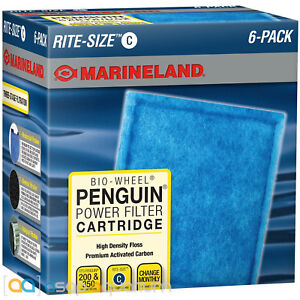 Marineland Penguin Rite Size C Power Filter Cartridges 6 Count